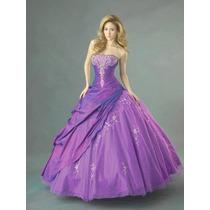 Vestido Noiva Debutante 15 Anos Roxo Lilas Pronta Entrega