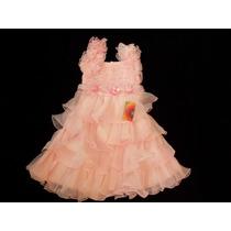 Vestido Infantil Fru-fru Princesa/daminha/florista Rosa