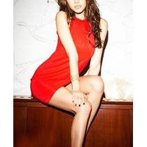V14 Lindo Vestido Vermelho Feminino