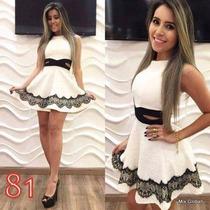Vestido Feminino Em Renda Chifon Pronta Entrega Frete Grátis