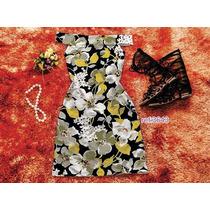 Vestido Curto Floral Tropical Verão Sem Renda Ciganinha 3643