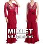 Vestido De Festa Longo Vermelho Alças - Madrinhas, Formatura