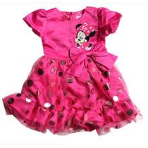 Vestido Festa Rosa Minnie - Infantil