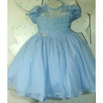 Vestido Infantil Princesas Fantasia Cinderela Minie Frozen