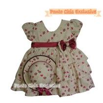 Vestido De Festa Infantil Tricoline Com Chapéuzinho