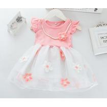 Vestido Infantil Bebê Importado Floral Flores Pronta Entrega