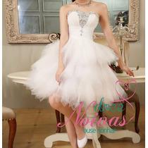 Vestido Noiva Debutante Curto Novo Pronta Entrega
