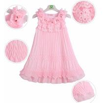 Vestido Festa Infantil Aniversário Casamento Rosa Princesa
