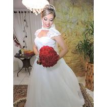 Vestido De Noiva Longo, Estilo Princesa.