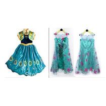 Fantasia Elsa Ou Anna Frozen Fever Pronta Entrega