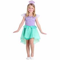 Sulamericana Fantasia Ariel Pequena Sereia 3 A 4 Anos