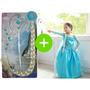 Vestido E Acessórios Frozen Fantasia Elsa Infantil