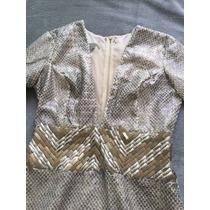 Vestido De Tecido Grosso E Telinha No Decote Agilitá Tam:40