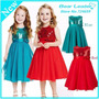 Vestido Infantil Princesa Casamento Formatura Vermelho Azul