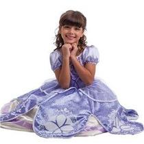 Vestido Princesa Sofia Tamanho P (3-4 Anos) Luxo