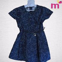 Vestido Festa Infantil Brandili Mundi Azul Tam. 10