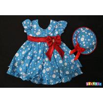Vestido Fantasia Infantil Galinha Pintadinha Brinde: Chapéu