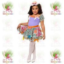 Vestido Junino Caipira Infantil Festa Junina ° Boneca Lilás