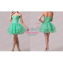 Vestido De Debutante Curto Verde Novo Pronta Entrega