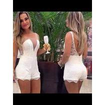 Festa Fim Ano Macaquinho Branco Conjunto Vestido