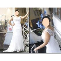 Promoção De Vestido De Noiva Em Renda - Frete Grátis