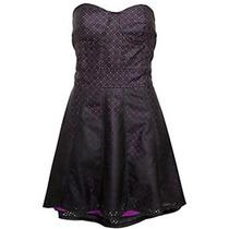 Vestido Tomara-que-caia Roxo/preto Importado