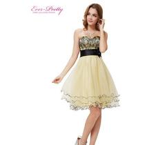 Vestido Ever Pretty Tomara-que-caia Com Saia Em Tule E Renda