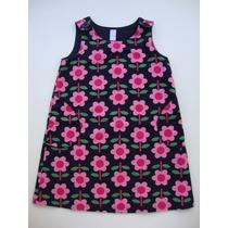 Vestido Florido Em Sarja Baby Gap - 3 Anos