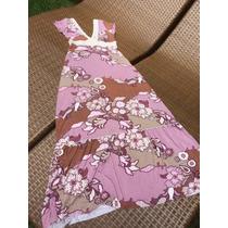 Vestido Longo Em Algodão Sereia Decote Rosé Tam P