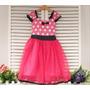 Vestido Fantasia Luxo Bebê Minnie Rosa - Pronta Entrega