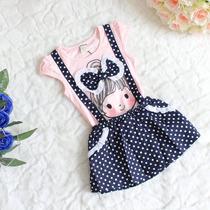Vestido Jardineira Criança Importado - Vários Modelos