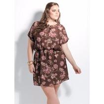 Vestido De Balada Florido Plus Size