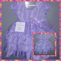 Vestido Infantil De Festa Princesa Sofia Luxo Super Oferta