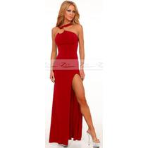 Vestido Malha Festa Longo Balada Formatura Casamento Madrinh