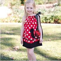 Vestido Vermelho Minnie - Infantil - Pronta Entrega