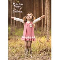Vestido Infantil Inverno Festa Casual Xadrez Tam 1, 2, 3