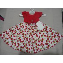 Vestido Infantil Festa Moranguinho 1 Ano