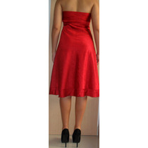 Cavendish: Vestido De Festa Midi Vermelho P