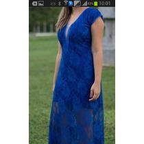 Vestido De Festa / Longo / Azul / Casamento / Formatura