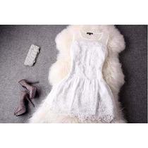 Vestido Juvenil Adolescente Branco - P. Entrega!