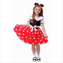 Fantasia Infantil Feminina Princesa Minnie Frete Grátis