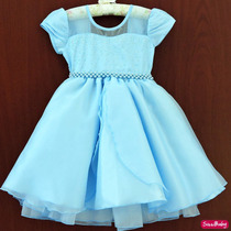 Vestido Fantasia Princesa Elsa Frozen Pronta Entrega