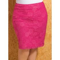 Saia Lápis Pink Plus Size - Roupa Gordinhas Lindas
