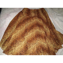 Vestido T.q.c Saia Estampa Animal Print Tamanho M