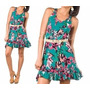 Vestido Vestidinho Estampado Floral Regata Curto Mini Verão
