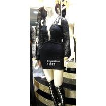 Vestido De Festa Renda Manga Pérola Imperiale - Frete Grátis
