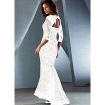 Vestido De Noiva Sereia Festa Simples Lindo Pronta Entrega