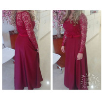 Vestido Longo De Festa - Madrinha De Casamento - Vermelho