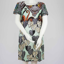 Vestido Feminino Estampado Tecido Leve Original Nota Fiscal