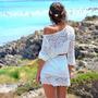 Vestido Lindo Estilo Praia Croche Importado Com Cinto